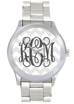 Monogram Watch Stainless Steel Personalized by InitiallyPink, $30.00 FOUND IT