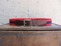 vintage c 1980s Coach belt brown leather and by MouseTrapVintage, $36.00