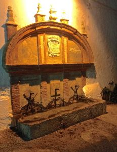 Old fountain in the 'old town' Frigiliana Village
