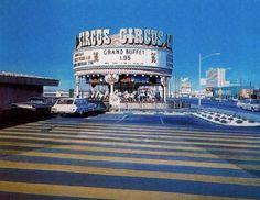 Las Vegas, 1971 by Richard Estes. Thunderbird Hotel and Sahara Hotel seen on the right. Vegas Casino, Las Vegas Strip, Las Vegas Nevada, Vegas 2, Illinois, Destinations, Retro Images, Sin City, Photorealism