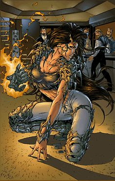 Witchblade /Sara Pezzini by Michael Turner Comic Book Heroines, Comic Book Artists, Comic Book Characters, Comic Artist, Comic Character, Comic Books Art, Image Comics, Bd Comics, Comics Girls