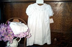 Christening, Baptism, LDS Blessing Smocked Day Gown  #PetitAmi #Gown