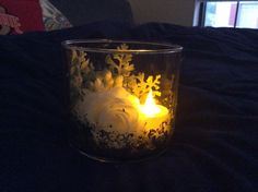 Mothers days gift. Old bath and body candle jar, gold leaf, and silk flowers