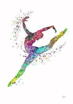 Image result for watercolor gymnastics
