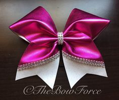 Mystique Pink White Glitter Silver Bling Cheer Bow - #193858072 by TheBowForce on Etsy https://www.etsy.com/listing/193858072/mystique-pink-white-glitter-silver-bling