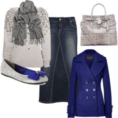 """""""Blue and Gray :)"""" by dall-alexsandira on Polyvore"""