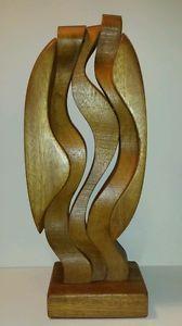 Brian Willsher Mid Century Modern Interlocking Wooden Sculpture, 1987. | eBay