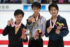 Yuzuru HANYU 羽生結弦 全日本選手権の男子シングルメダリストたち。