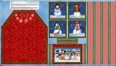 Christmas Quilt Fabric Kids Apron Panel Snow by acquiltfabric, $6.50