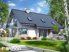 Dom pod liczi 5 (P) Simple House Design, My Home Design, Modern House Design, Unique House Plans, Bungalow House Design, D House, Cottage Plan, Cottage Style Homes, Big Houses
