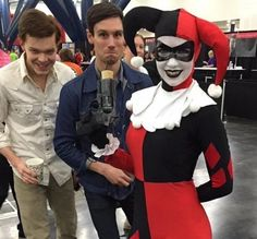 Cory Michael Smith (Riddler), Cameron Monaghan (Joker) and Harley Quinn