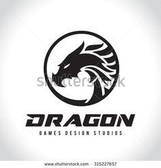 Dragon Vector Logo Template. - stock vector