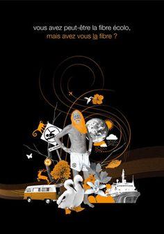 publicité Orange pour la fibre