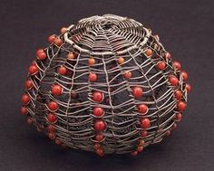 Copper Sea Urchin with Coral by WiredElements