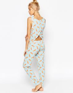 Image 2 of ASOS Goldfish Photographic Vest & Legging Pyjama Set