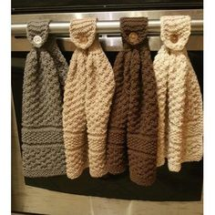 Knitted Hanging Kitchen Towels - free pattern