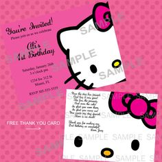 Hello Kitty Printable Birthday Party by Emmaspartycreations, $9.00