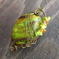 Pendant Wire Wrapping - beautiful GREAT WIRE WRAPPING IDEAS