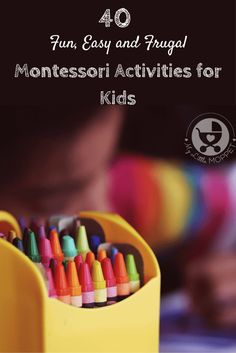 Setting up a Montessori system at home needn't be expensive! Check out this list of fun, easy and budget-friendly Montessori Activities for young kids.