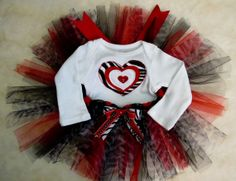 Valentines Tutu Set  Size 39 months  Tutu and Onesie by cd1ofakind, $28.00
