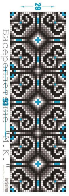 Micro macrame pattern / alpha friendship bracelet pattern / cross stitch chart - can also be used for crochet, knitting, knotting, beading, weaving, pixel art, and other crafting projects.
