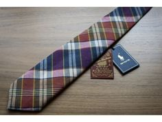 Ralph Lauren Indian Bleeding Madras Tie - Malford of London