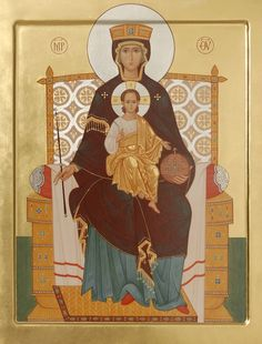 Reigning icon of the Mother of God, catalog of St Elisabeth Convent. Made to…