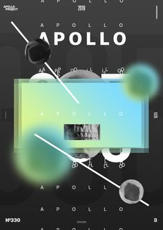 Fresh and nice-looking creation made with a cool gradient. The layout is centered and the asymmetric elements such as the blurry circles give a good balance. Rose Flower Wallpaper, Aesthetic Themes, Graphic Design Art, Motion Design, Apollo, Circles, Advertising, Typography, Layout