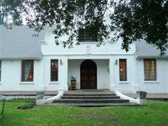 The Farmhouse/Die Plaashuis - This is a beautiful Cape Dutch farmhouse situated at the foothill of a plantation, in one of the most tranquil and well-established areas in George. We offer one private flat sleeping four guests, with . Cape Dutch, Holiday Accommodation, Cape Town, Weekend Getaways, South Africa, Holland, Entrance, Farmhouse, Mansions