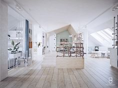 kids attic playroom / plywood kids house / bawialnia na poddaszu Attic Playroom, Kids House, Plywood, Anna, Stairs, Home Decor, Hardwood Plywood, Stairway, Decoration Home