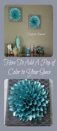 HOW TO ADD A POP OF COLOR TO YOUR SPACE. COLOR DECOR CRAFTS ART PAPER SCRAP BOOK PAPER DECOUPAGE MODGE PODGE