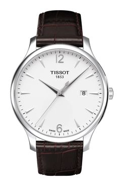T063.610.16.037.00NEW TISSOT TRADITION QUARTZ MENS WATCH Usually ships within 8 weeks - Click to view IN STOCK Specials - FREE Shipping - No Sales Tax (Outside California) - With Manufacturer Serial Numbers - Silver Dial- Date Feature- Battery Operated Quartz Movement- Caliber F06.111- 3 Year Warranty - Guaranteed Authentic - Certificate of Authenticity - Manufacturer Box