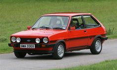 Red Mk1 Ford Fiesta XR2