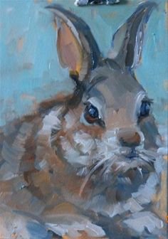 """Brown Bunny"" - Original Fine Art for Sale - © Brande Arno"