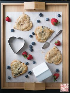 Wow! Impressive Berry Hand Pies for Valentine's Day treats or dessert - serve with ice cream for a charming, date-night-home dessert  | Dessert Girl First