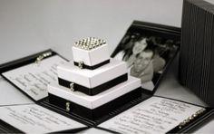 Couture wedding invitations| black and white box wedding invitations