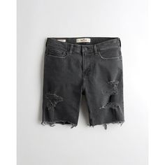 4994a32096 Hollister Classic Fit Denim Shorts (77 BRL) ❤ liked on Polyvore featuring  men's fashion