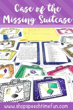 case of the missing suitcases basic inferencing fun for speech therapy