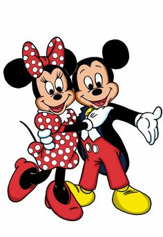 Mickey and Minnie...yep....L-O-V-E!