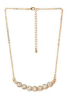Glam It Up Rhinestone Necklace   FOREVER21 - 1000088215