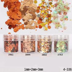1Box 10ml Bronze Gold Color Nail Glitters Powder Sheets Tips