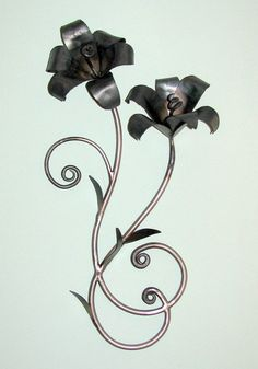 Hand Forged Scroll Tiger Lillies 24 by VinTin by VinTin on Etsy, $275.00