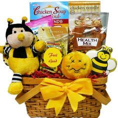 Art of Appreciation Gift Baskets   Bee Better Soon Basket - http://mygourmetgifts.com/art-of-appreciation-gift-baskets-bee-better-soon-basket/