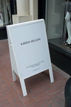 shop pavement advert #sandwich board, #sidewalk sign #pavement sign