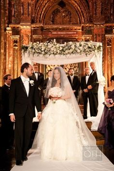 New York Wedding at the Angel Orensanz Foundation by Christian Oth Studio – Style Me Pretty Plan My Wedding, Wedding Ideas, Wedding Canopy, Canopy Design, Wedding Flowers, Wedding Dresses, Chuppah, Groom Attire, New York Wedding