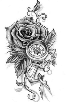 Anchor tattoos are not so common in life, so they have some new ideas. In addition, they are also beautiful and suitable for secondary creation. Come and pick out anchor tattoos that belong to your. Feather Tattoos, Forearm Tattoos, Rose Tattoos, Body Art Tattoos, New Tattoos, Tattoos For Guys, Sleeve Tattoos, Tattoos For Women, Tattoo Thigh