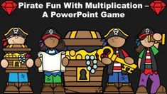 This pirate themed game reviews multiplication facts from 0-12. It includes the following components:** 25 practice problems. The answers follow the questions, so the students get instant feedback.**5 pirate themed multiplication word problems.**The Lightning Round! Multiplication equations will app... Multiplication And Division, Multiplication Facts, Powerpoint Games, Team Games, Pirate Theme, Teacher Favorite Things, Dry Erase Board, Math Skills, Word Problems
