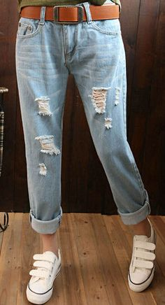 EAST KNITTING CC086 Hot Style NEW Fashion Women Jeans Harem Pants Hole Loose Trousers Plus Size Free Shipping
