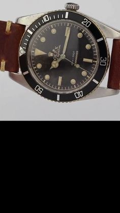 """An extremely rare Rolex Submariner reference 5508 aka """"James Bond"""" with a stunning gilt tropical dial and """"exclamation point"""" lume dot at 6 o'clock. The Rolex Submariner 5508 is an important reference in the history of the Rolex Submariner line, marking the move towards standardisation of the model. Produced between the late 1950's and early 1960's, the Rolex reference 5508 introduced the 55XX reference format that persisted until the 1990's."""