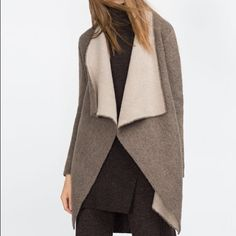 Zara Lapel Sweater Comfy and lovely!!  Unfortunately this is too big for me.  Great condition!  Make it yours!!  Sorry NO❌trades❌paypal. Zara Sweaters